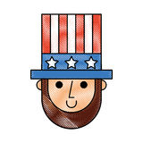 Abraham Lincoln met hoeden grappig karakter Stock Foto's