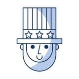 Abraham Lincoln met hoeden grappig karakter Royalty-vrije Stock Foto