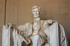 Abraham Lincoln, Middelgrote Mening Stock Foto