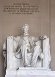 Abraham Lincoln minnesmärke Fotografering för Bildbyråer