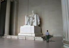 Abraham Lincoln minnesmärke royaltyfria bilder
