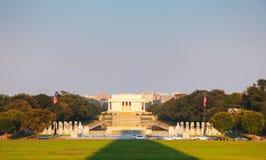 Abraham Lincoln minnesmärke i Washington, DC Arkivfoton