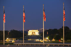 Abraham Lincoln minnesmärke i Washington, DC Royaltyfria Bilder