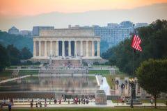 Abraham Lincoln minnesmärke i Washington, DC Fotografering för Bildbyråer
