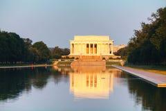 Abraham Lincoln minnesmärke i Washington, DC Arkivbilder