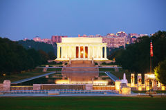 Abraham Lincoln minnesmärke i Washington, DC Arkivbild