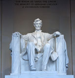 Abraham Lincoln minnesmärkestaty Arkivfoton