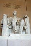 Abraham Lincoln minnesmärkestaty Royaltyfria Bilder