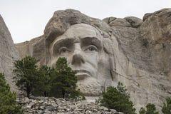 Abraham Lincoln monteringsrushmore Arkivfoto