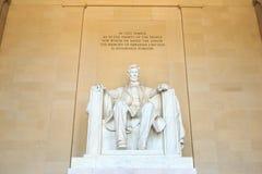 Abraham Lincoln monument i Washington Royaltyfria Foton