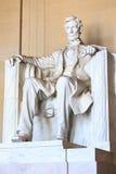 Abraham Lincoln monument i Washington Arkivbilder
