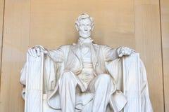 Abraham Lincoln monument i Washington Arkivbild
