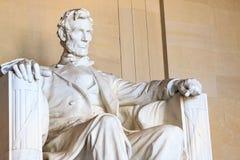 Abraham Lincoln monument i Washington Arkivfoto