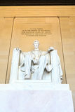 Abraham Lincoln monument i Washington Royaltyfri Foto