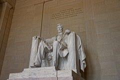 Abraham Lincoln monument i Washington DC USA Arkivbild