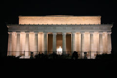 Abraham Lincoln Monument at Night Stock Image