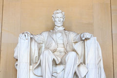 Abraham Lincoln monument in Washington Stock Photography