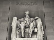 Abraham Lincoln monument in Washington, DC Royalty Free Stock Photo