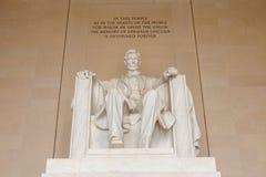 Abraham Lincoln monumentDC Fotografering för Bildbyråer