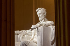 Abraham Lincoln monumentDC Arkivfoto