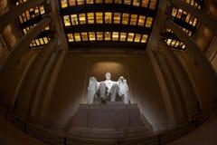 Abraham Lincoln monumentDC Arkivbild