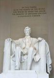 Abraham Lincoln - monumento de Lincoln Imagenes de archivo