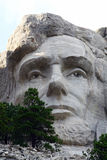 Abraham Lincoln at Mount Rushmore. A view of Abraham Lincoln as seen at Mount Rushmore in South Dakota. This close up gives you a better idea of the work that royalty free stock photo