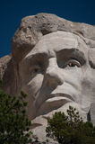 Abraham Lincoln at Mt. Rushmore. National Memorial stock image