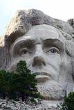 Abraham Lincoln na montagem Rushmore foto de stock royalty free