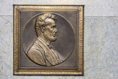 Abraham Lincoln Plaque Arkivbild