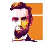 Abraham Lincoln Pop Art-portret/eps Stock Afbeelding