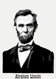 Abraham Lincoln portrait. American President Abraham Lincoln portrait stock illustration