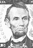 Abraham Lincoln portrait from us 5 dollars black and white. Abraham Lincoln portrait from us 5 dollars black and white Stock Photo