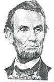 Abraham Lincoln portrait (vector) Royalty Free Stock Photo