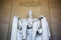 abraham Lincoln posąg Zdjęcia Royalty Free
