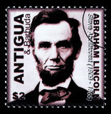 Abraham Lincoln Postage Stamp Stock Foto