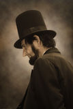 Abraham Lincoln Profile royalty free stock photos