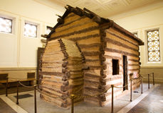 Abraham Lincoln's Birthplace. Log cabin representing the birthplace of Abraham Lincoln Stock Photo
