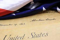 Abraham Lincoln's signature US constitution Stock Photo