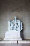 Abraham Lincoln's statue inside his memorial Stock Photography