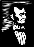 Abraham Lincoln. Simple black and white illustration of the former American president Abraham Lincoln Stock Image