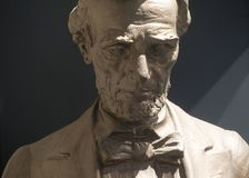 Abraham Lincoln skulptur i begrundande Royaltyfria Bilder