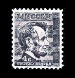 Abraham Lincoln stämpel Royaltyfria Foton