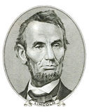 Abraham Lincoln stående Royaltyfri Bild