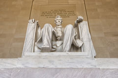 Abraham Lincoln statua przy washington dc pomnikiem Obraz Stock