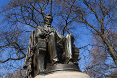 Abraham Lincoln statue. Abraham Lincoln statue in Grant Park on a sunny early Spring day. Chicago, Illinois, USA stock photography