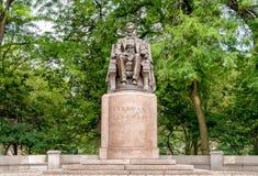 Abraham Lincoln Statue i Grant Park, Chicago Arkivfoton
