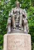 Abraham Lincoln Statue i Grant Park, Chicago Fotografering för Bildbyråer