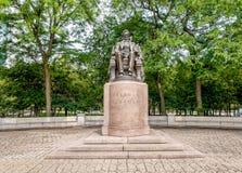 Abraham Lincoln Statue i Grant Park, Chicago Royaltyfri Fotografi