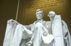 Abraham Lincoln Statue i Washington DC - Lincoln Memorial Arkivbild